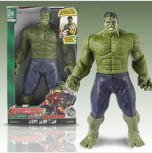 2019 Hot Action Figures 12 inch Avengers 3 toy hand-held US team Hulk Thanos Spider-Man doll Model Ornaments 11styles on Sale