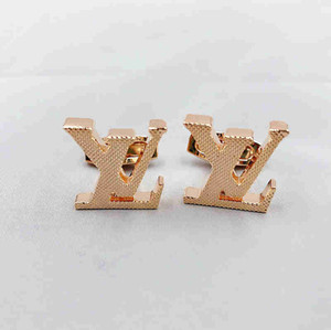 Wholesale high quality fine groom shirt Cufflinks luxury jewelry Copper Cuff links for festival Gift L Wallet NO Box