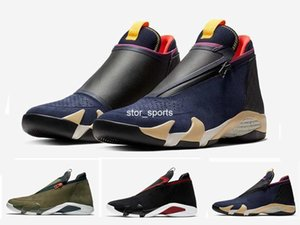 Wholesale 2019 s zipper Basketball Shoes Men suede Olive Mesh last shot black red Fusion Jumpman Z s XIV AQ9119 AQ9119 designer Sneakers