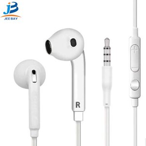Wholesale High quality mm S6 headphones for S7 S6 edge headphones High quality in ear stereo headphones Microphone earphones