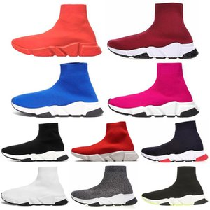 Wholesale Newest Fashion Shoe Speed Trainer cheap Sneakers for men womens Speed Trainer Sock Race Runners black men Shoe zapatos