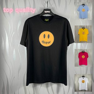 para çekme toptan satış-ÇEKTİ EVİ Erkekler Tasarımcı Tişörtlü Sokak Tide Marka Streetwear The Money Smiley Smiley Face Tee Avrupa ve Amerika ile tişört Kısa kollu