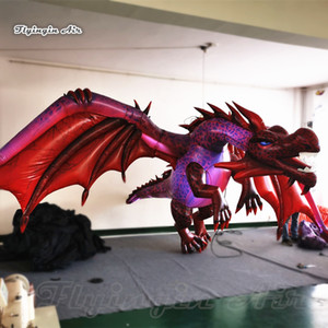 Wholesale dragon flies for sale - Group buy Scary Lighting Inflatable Flying Dragon m Hanging Red Evil Dragon For Night Club And Halloween Party Decoration