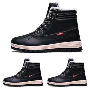 Wholesale 2020 hot style6 waterproof cotton Large size winter triple black grey man boy men boots mens Sneakers Boot trainers outdoor walking shoes