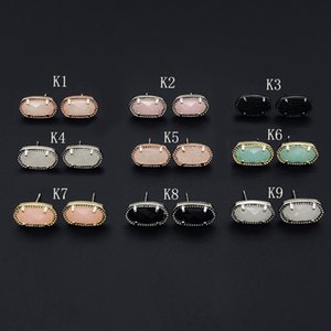 9 Colors Druzy Drusy Fashion Kendra Druzy Drusy Scott Earrings Silver Gold Plated Faux Natural stone Scott Women Brand Jewelry Christmas