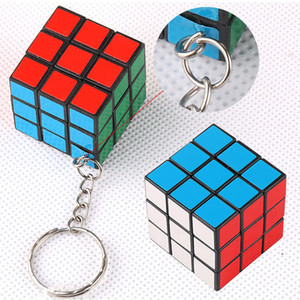 Funny Magic Cube Game Puzzle Keychains Puzzle Reduced Pressure Pendant Mini Key Rings Kids Toy Adult Key Accessories Hot Sale