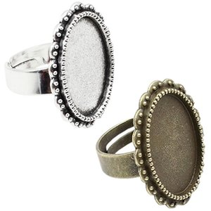 Wholesale bezel x13mm Inner Size Copper Metal Alloy Oval Setting Bezel Blank Cabochon Ring Base For DIY Ring K04635