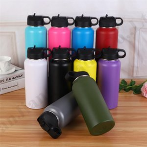 32 40 oz Hydro Vacuum Insulated Flask Stainless Steel Water Bottle Wide Mouth Vacuum Sports Large Capacity Outdoor Hydration Gear A110602