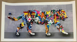 Wholesale tiger paintings resale online - By Martin Whatson Tiger Home Decor Handpainted Oil painting On Canvas Wall Art Canvas Pictures