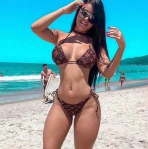 666 Designer Sexy Lady Bikini Swimsuit Brand Letter Printed Brand Swimwear Bikini for Women Luxury Two-Piece Female Bikini Bathing Suit