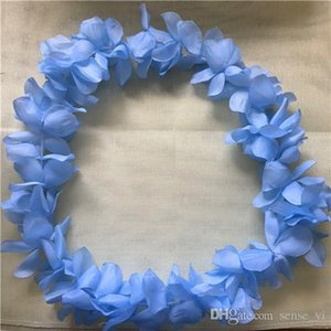 Wholesale 10Opcs Colourful Artificial Hawaiian Flower Leis Wedding Party Decoration Flower Necklace Garland