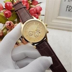 2020 men's fashion watch amn 3 dial leather belt waterproof Wristwatches Luxury Watch Top Brand relogies for men relojes