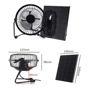 3W 6V solar panel fan 4 inch solar fan can charge mobile phone power