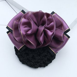 Popular professional hairpin, net bag, gold lace, ribbon, stewardess, post bank, hairpin, hotel, hairdressing nurse