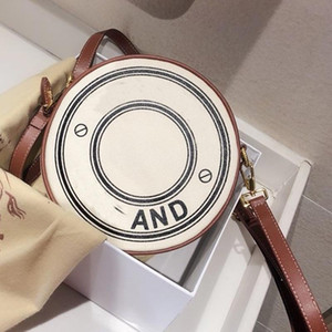 Wholesale women design handbags resale online - Crossbody Bag Handbag Wallet Fashion Canvas Circular Double Layer Design Women Shoulder Bag Adjustable Shoulder