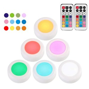 Wholesale Brilliant Evolution Wireless Color Changing LED Puck Light Pack With Remote Controls LED Stick On Lighting Closet Light Battery Power