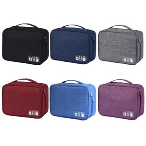 Wholesale Travel Digital Accessories Organizer Data Bag USB SD Card Data Line Headset Mobile Power Portable Storage Package Cell Phone Bag VF0032