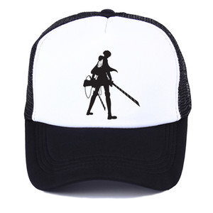 Wholesale Anime attack on titan Printing Eren Jaeger character Summer net cap Sun Hat Baseball Cap unisex Accessories Cosplay Hip Hop