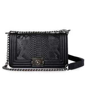 Wholesale Fashion Woman Crossbody Bag Promotional Ladies Totes Pu Leather Handbag Chain Shoulder Bag Plaid Women Bag