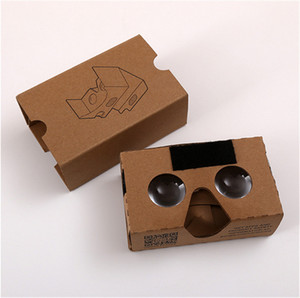 Wholesale DIY D Glasses Google Cardboard VR BOX Version VR Virtual Reality VR D Glasses For inch Smartphone