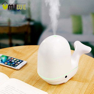 Wholesale Creative Pat Light Whale Air Humidifier Ultrasonic Aroma Essential Oil Diffuser Mist Maker Aromatherapy for Home Baby Room