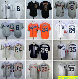 2019 Mens women kids Baseball 6 Al Kaline 23 Kirk Gibson 35 Justin Verlander 24 Cabrera 41 Martinez Jerseys youth white gray black Stitched