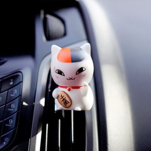 Fashion Lucky Fortune Cat Car Vents Perfume Air Freshener Ornament Japanese Chinese Style Fragrance Diffuser Car Decorations