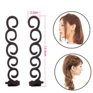 Wholesale 4 Magic Hair Twist Centipede Styling Tool Roller Braid Clip Stick Women Hair Styling Former Girls DIY Accessories