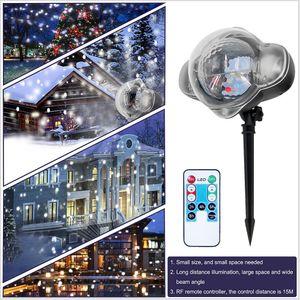 Christmas Laser Snowflake Projector Outdoor LED Waterproof Disco Stage Lights Home Garden Xmas Wedding Light Indoor Decoration