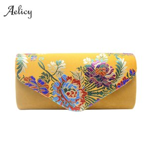 Wholesale Aelicy Fashion Evening Clutches Women Party Flower Embroidery Shoulder Bag Clutches Bridal Wedding Party Bag Envelope