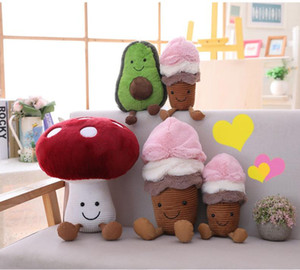 Wholesale new Creative doll Plush toys avocado plush toy custom ice cream mushroom doll machine doll