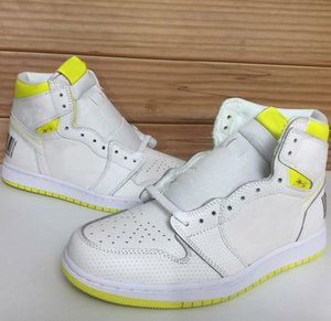Wholesale New Hot s First Class Flight Mens Fashion Bar Code Design White Lemon Yellow Outdoor Trainer Sports Sneakers Designer Shoes size