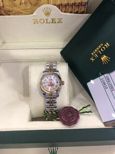Wholesale Christmas gift swiss Automatic watches Original box certificate Lady Size mm Date kt Gold President CHAMPAGNE Diamond Women Watch