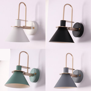 Wholesale Modern Led Indoor Bedside Wall Lamp Fixture Nordic Metal Wall Sconce Lighting Aisel Stair Corridor Bedroom Home Decor Luminaire I43