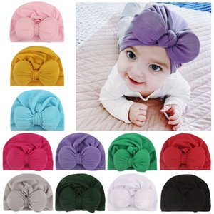 Wholesale 201911 Baby Girl Beanie Hat Bowknot Cap Autumn Winter Turban Hats Newborn Infant Toddler Headwrap Caps Styles Hair Accessories M843F