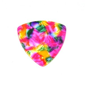 Celluloid 346 Rounded Triangle Guitar Picks Plectrums 0.71mm 100Pcs Tie Dye