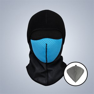 Wholesale Winter Cycling Face Mask Carbon Filter Mask PM2 Anti pollution Sport Ski Masks Bicycle Riding Running Thermal Fleece Face