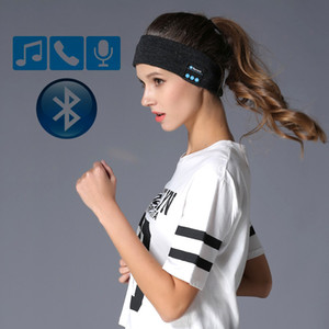 Wholesale Knitting Music Headband Headset Mic Wireless Bluetooth Earphone Headphone For Running Yoga Gym Sleep Sports Earpiece