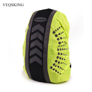 Wholesale Reflective Waterproof Bag Rain Cover Backpack Cover Outdoor Travel Camping Dustproof Rainproof Covers for Backpacks cycling bag
