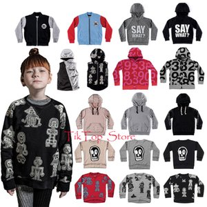 Wholesale Kids Coats Toddler Girls Letter Fluffy Torn Hoodie Jackets And Coats Children Boys Outerwear Skull Teribal Dancers