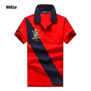 Wholesale Summer Mens famous brand designer POLO Ralph Tshirt Lauren Luxury high quality big logo Cotton men Polo Shirt short sleeve Free delivery hot