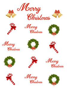 Wholesale Christmas Wreath and Cane Bells Decoration Vinyl Photography Backdrops White Photo Booth Backgrounds for Merry Christmas Studio Props