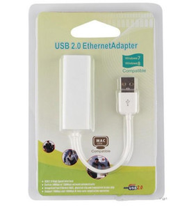 Wholesale rj45 tablet resale online - USB ethernet adapter USB RJ45 USB to High Speed Ethernet Network LAN Adapter Card Adapter for PC windows7 with Retail box