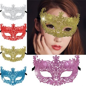 Wholesale 1PCS New Year Halloween Party Mask Masquerade Mask Dress Venetian Eye Carnival Sexy Festival Colors