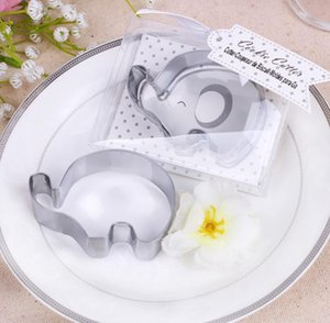 Wholesale 100pcs Little Elephant Cookie Cutter Baby Shower Favors Stainless Steel Biscuit Cutters Mold Party Giveaway