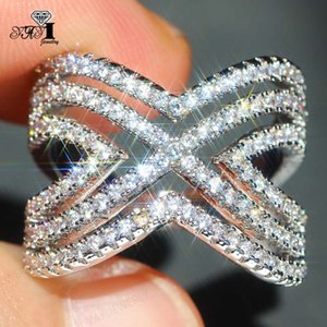 Wholesale YaYI Jewelry Princess Cut CT White Zircon Silver Filled Engagement Rings wedding Heart Rings Valentine s Day Girls ring
