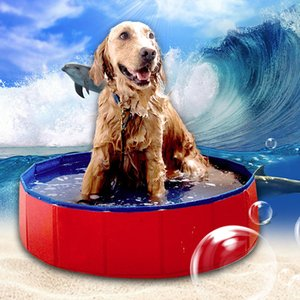 Wholesale New Foldable Pool Dog Cat Tub Folding Tub Dog Swimming Pool Golden Retriever Special Pet Swimming Bath Barrel