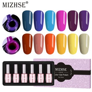 MIZHSE Gel Polish UV And Led Permanent Glazes Soak Off UV Gel Polish Glue Lacquer Set Long-lasting LED Top Nail on Sale