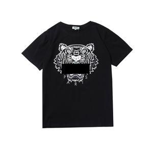 More Colors Shirts For Men Tiger HeadKENZOTops Shirt Clothing Brand Short Sleeve Round collar Tshirt Men Women S-XL