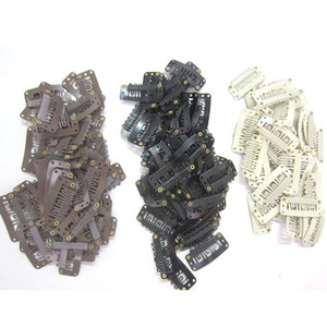 Wholesale hair combs for sale - Group buy 100pcs Wig tools Clips Combs Snap Clips with Rubber for Hair Extension Toupee DIY Teeth cm Black Brown Blonde